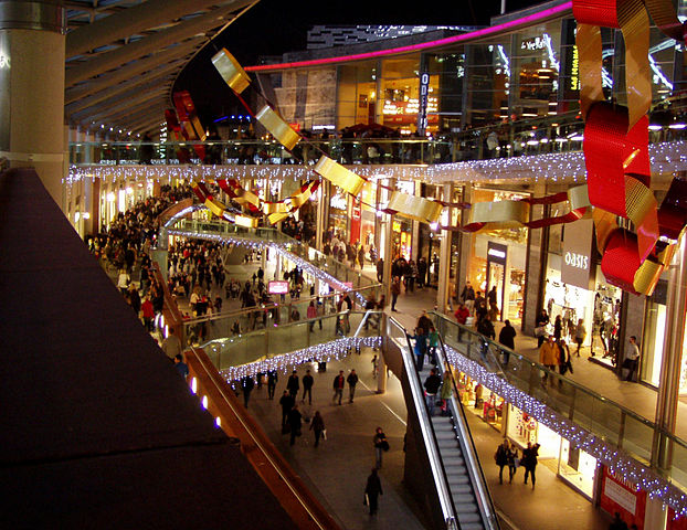 The mega shopping complex in Liverpool